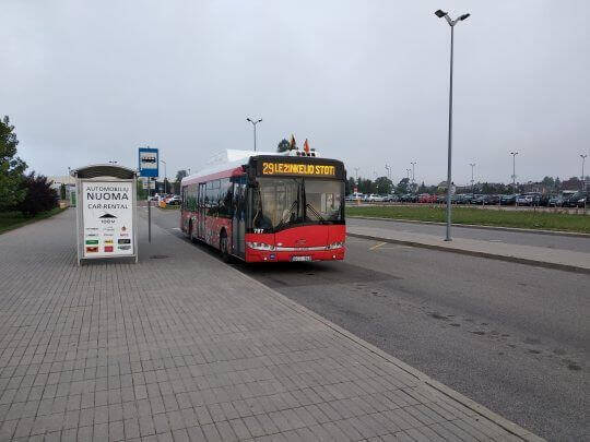 Bus 29 in Kaunas Airport